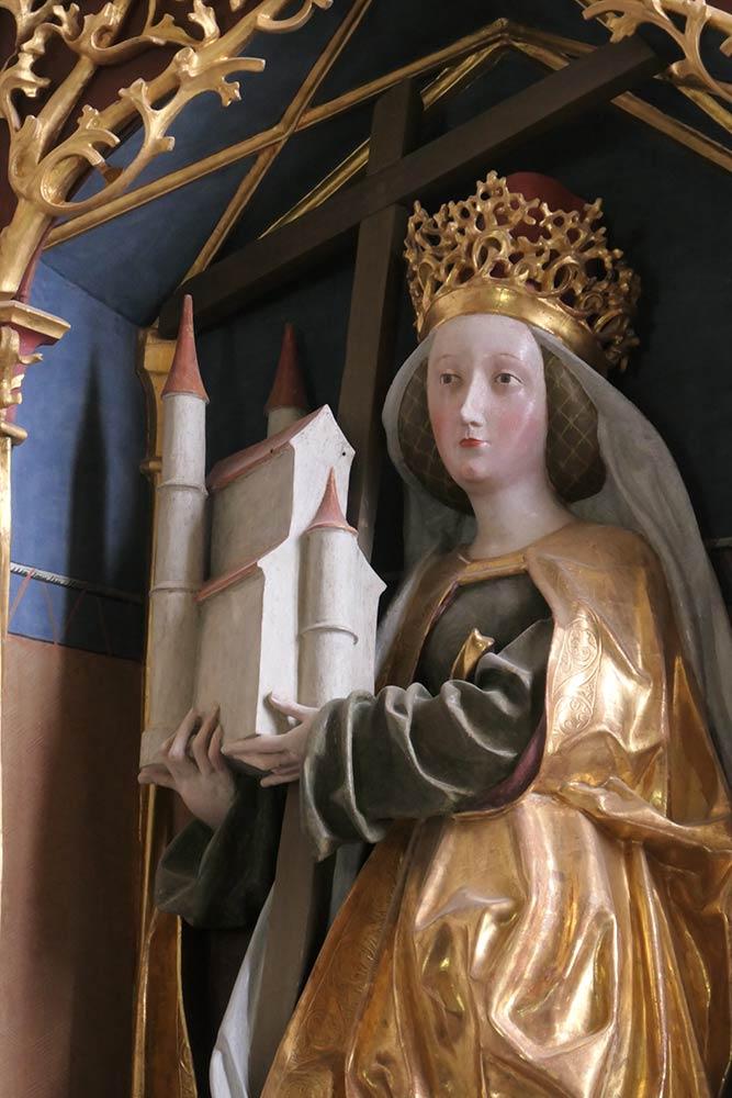 Maria con chiesa, altare maggiore, Helenenkirche, Magdalensberg