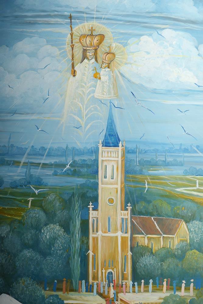 हमारी लेडी ऑफ बिस्ट्रिका, मरीजा बिस्ट्रिका की चर्च की पेंटिंग