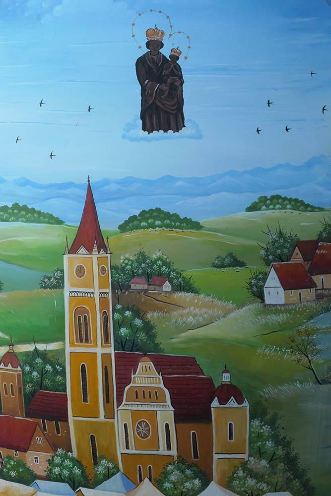 Gemälde der Frauenkirche von Bistrica, Marija Bistrica