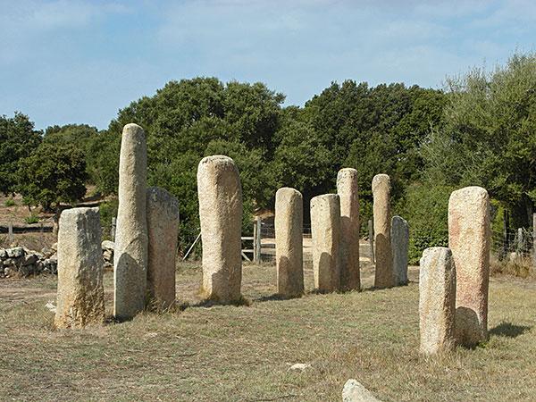 Menhirs Stantari, Cauria