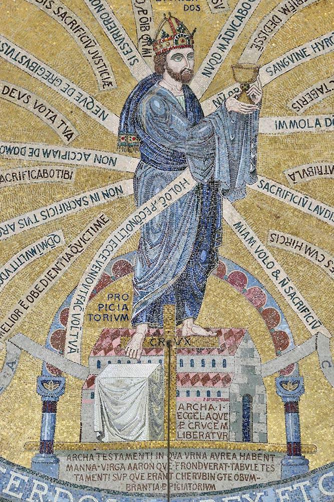 Mont Sainte-Odile, mosaico all'interno della cappella