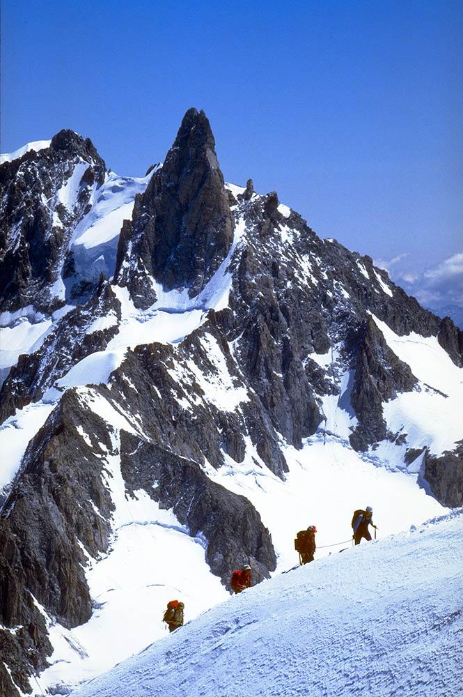 Scalatori sul monte Blanc