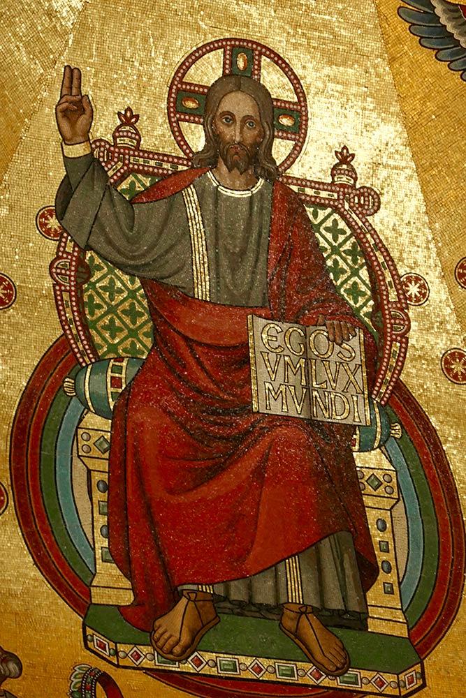 Mosaïque du Christ, cathédrale d'Aix-la-Chapelle, Aix-la-Chapelle