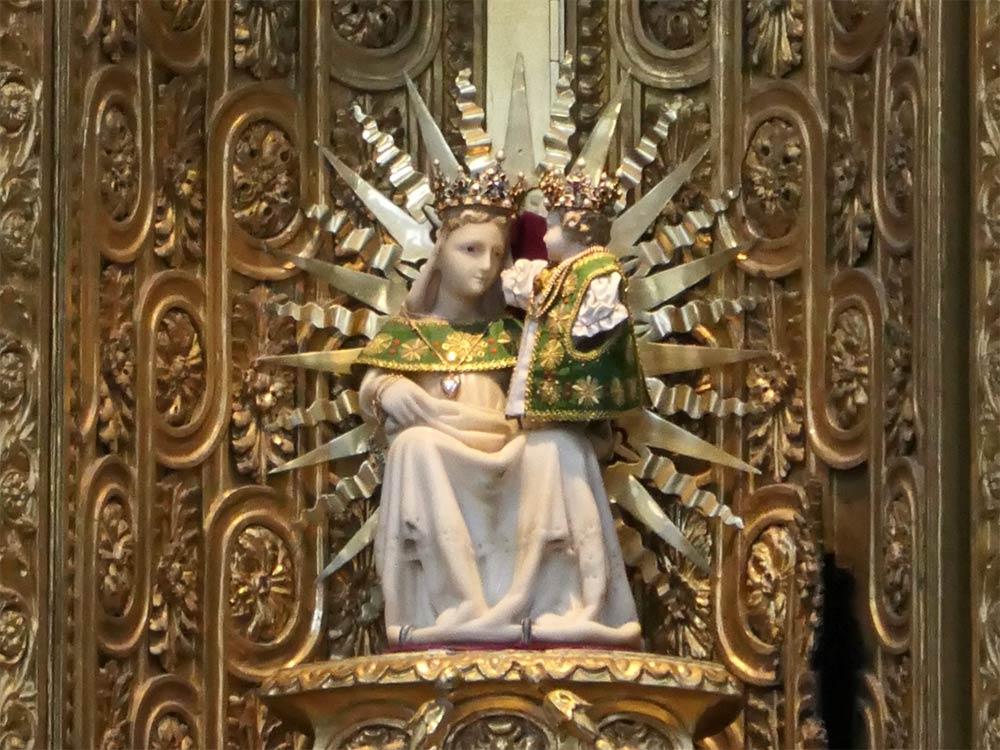 Statue de Marie et Jésus, abbaye d'Ettal, Ettal