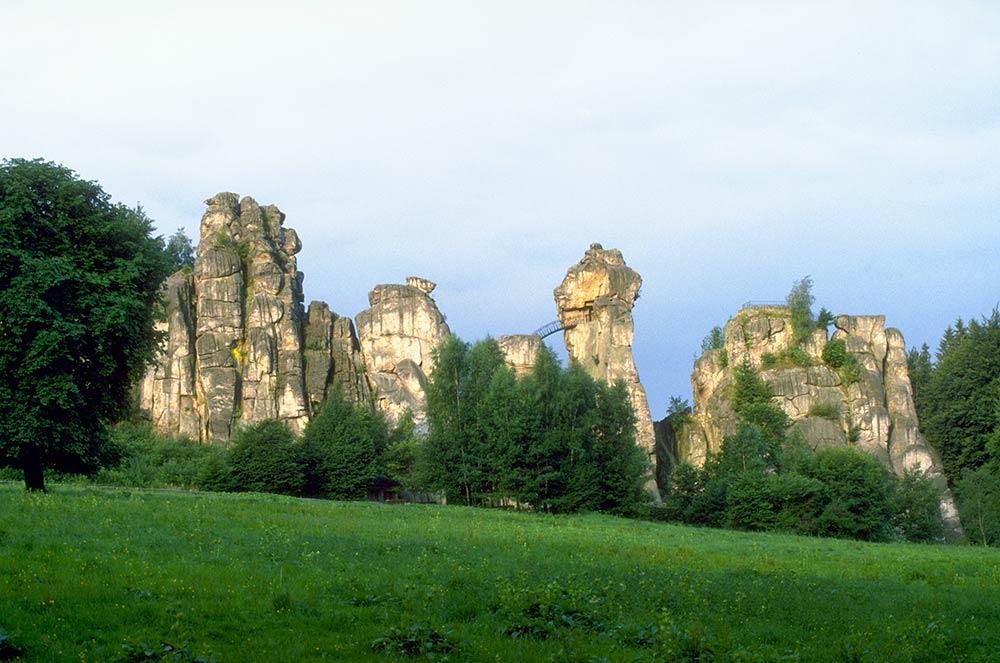 Panorama delle rocce di Externsteine