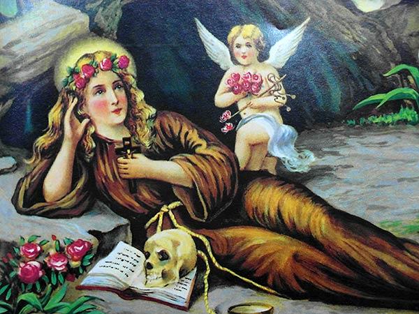 sicily palermo santuario santa rosalia montepellegrino mary की पेंटिंग