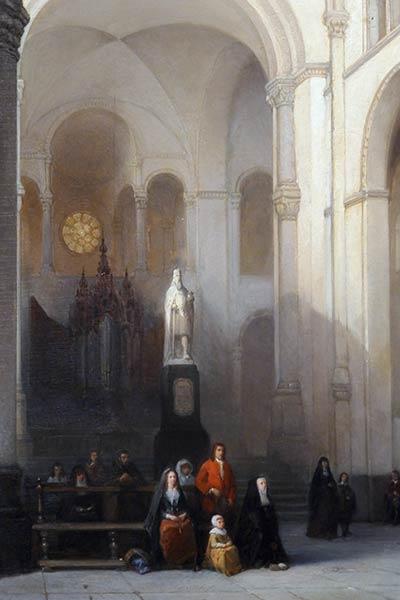 Pintura del interior de la basílica de san servio.
