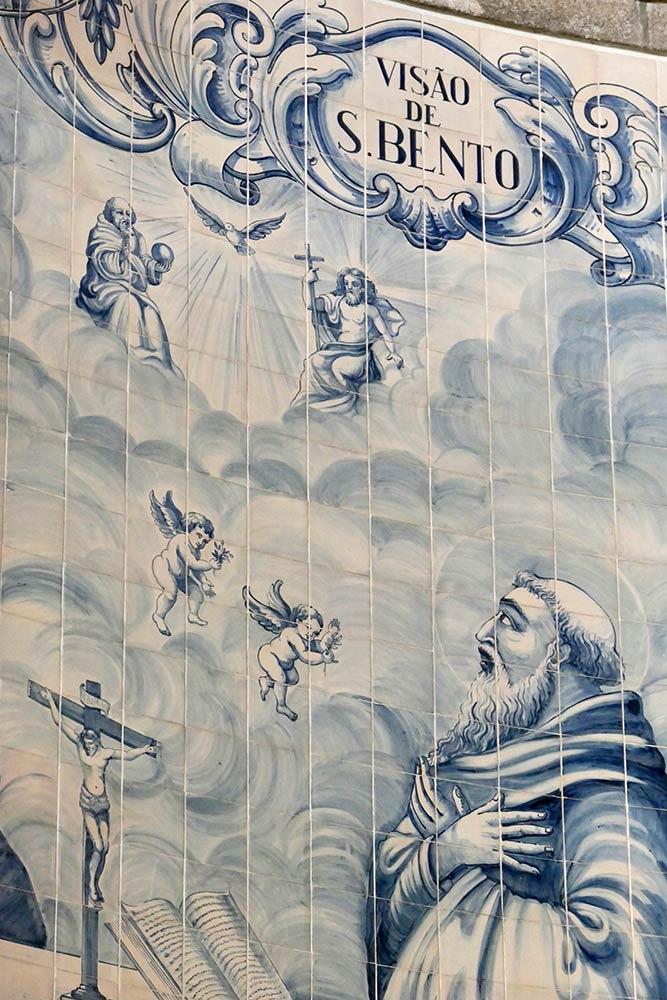 बासीलीका डे साओ बेंटो दा पोर्टा एबर्टा, साओ बेंटो की मोज़ेक टाइल पेंटिंग