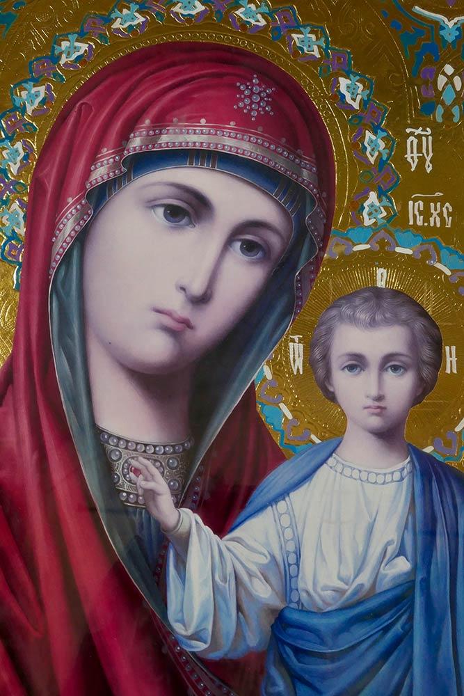Krusedol Selo, Krusedol (icono de María y el niño)