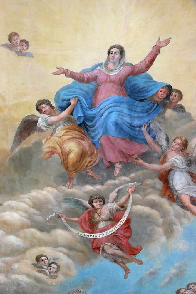 Eglise de Marie Apparition, peinture au plafond, Strunjan