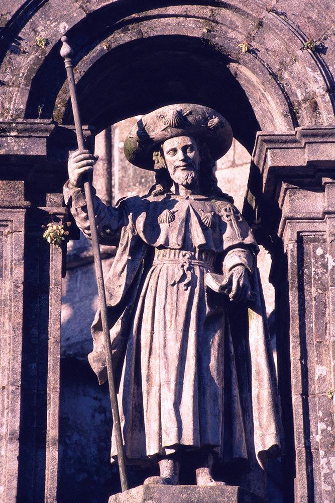 Santiago de Compostela, Estátua de São Tiago o Velho, Catedral de Santiago de Compostela