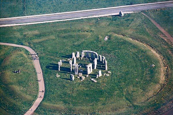 vista aerea di Stonehenge
