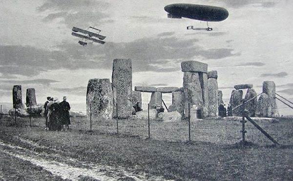 imagem vintage de stonehenge