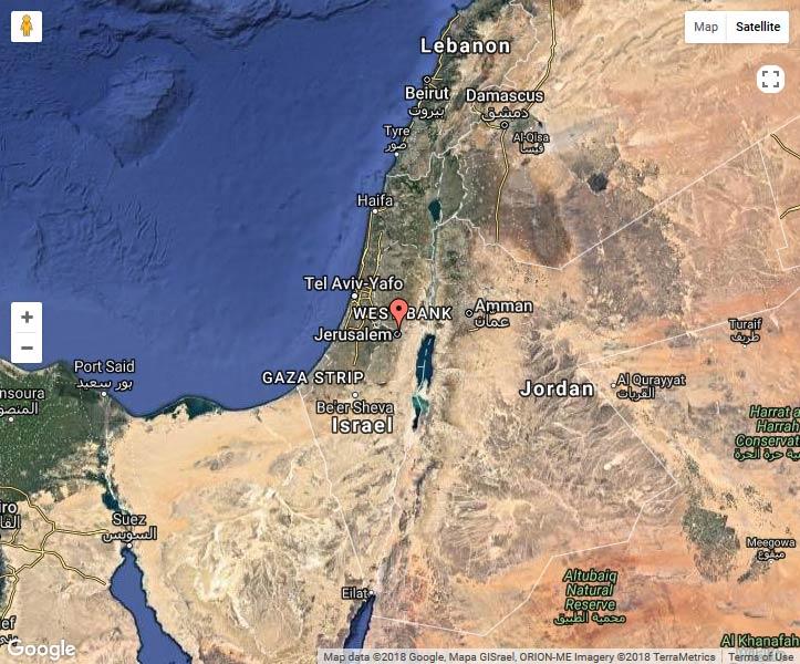चट्टान के मध्य पूर्व के इज़राइल गुंबद